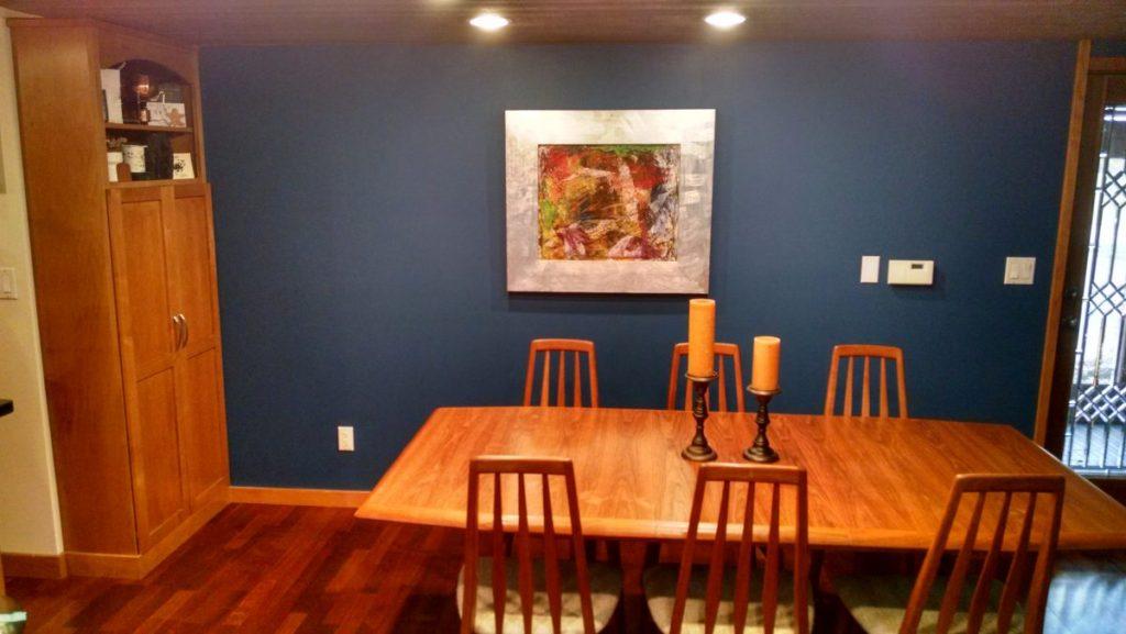 blue modern dining room