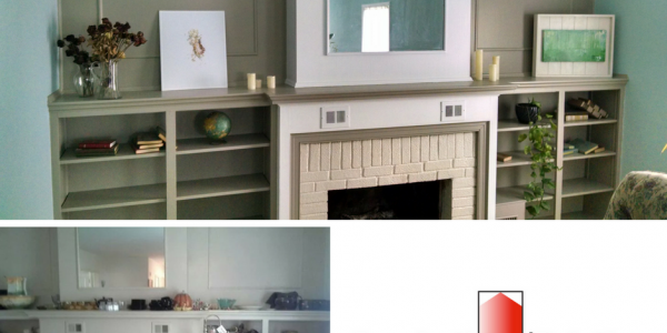 before and after of fireplace inspirational painting logo