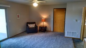 North Liberty Condo Living Room after remodel