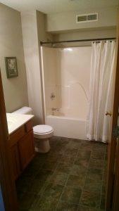 North Liberty Condo Hall Bathroom
